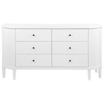 Arielle 6 Drawer Chest - White