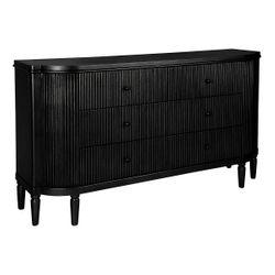 Arielle 6 Drawer Chest - Black