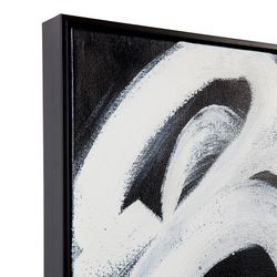 Black Twirl 1 Oil On Canvas Painting