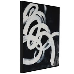 Black Twirl 1 Oil On Canvas Painting