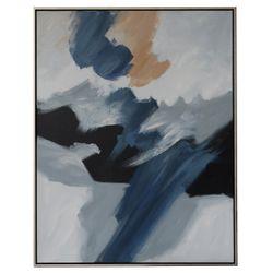 Blue Haze 2 Oil On Canvas Painting - Medium
