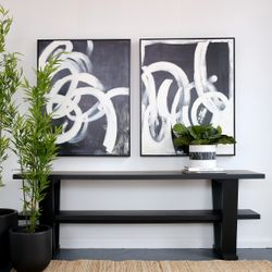 Black Twirl 2 Oil On Canvas Painting