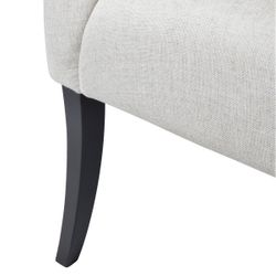 Georgina Button Tufted Occasional Chair - Natural Linen