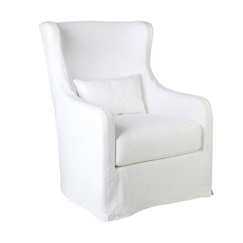 Riviera Slip Cover Occasional Chair - White
