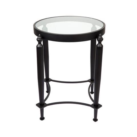 Jak Glass Side Table - Black