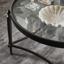Jak Glass Coffee Table - Black