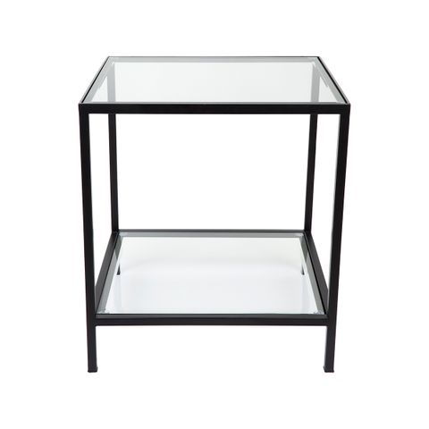 Cocktail Glass Square Side Table - Black