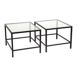 Cocktail Glass Nesting Coffee Table - Black