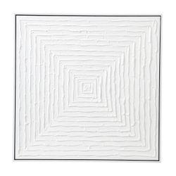 White Vortex Oil On Canvas Painting - Medium
