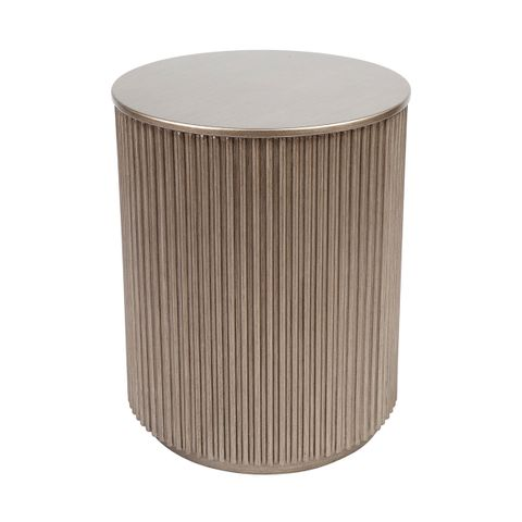 Nomad Round Side Table - Antique Gold