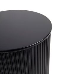 Nomad Round Side Table - Black