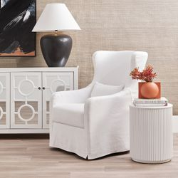 Nomad Round Side Table - White