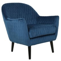 Joy Joy Quilted Occasional Chair - Navy Velvet