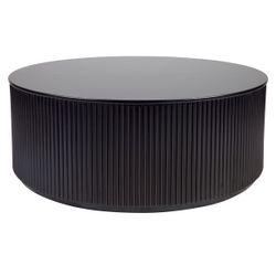 Nomad Round Coffee Table - Black