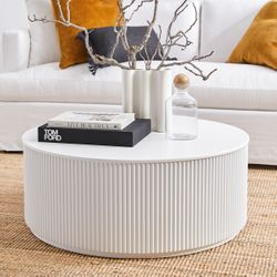 Nomad Round Coffee Table - White