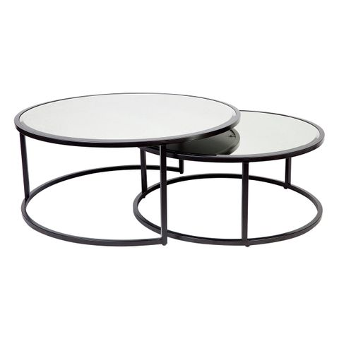 Serene Nesting Coffee Tables - Black