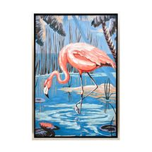 Flirty Flamingo Enhanced Canvas Print