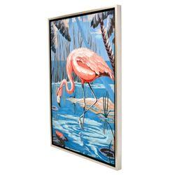 Flirty Flamingo Enhanced Canvas Print