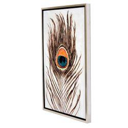 Pacific Peacock Enhanced Canvas Print