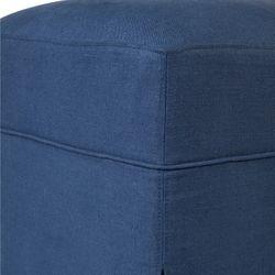 Brighton Slip Cover Bench Ottoman - Navy Linen