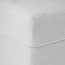 Brighton Slip Cover Bench Ottoman - Cool Grey Linen
