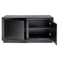 Balmain Oak Buffet - Small Black