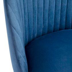 Dante Panelled Dining Chair -  Navy Velvet