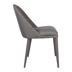 Dante Panelled Dining Chair - Charcoal