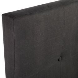 Regent Tufted Queen Bedhead - Black Linen