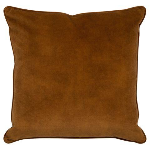 Tobago Square Feather Cushion - Tobacco Velvet