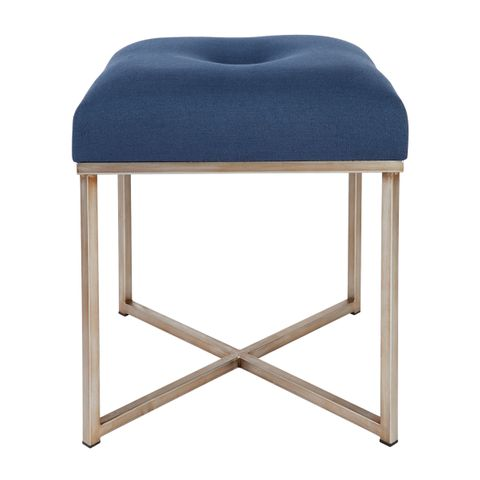 Margot Tufted Stool - Navy Velvet