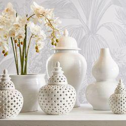 Salvador Temple Jar White Range