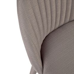 Dante Panelled Kitchen Stool - Charcoal
