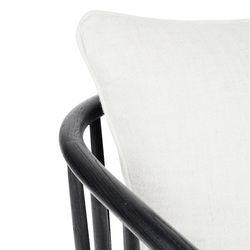 Pavilion Black Arm Chair - White Linen