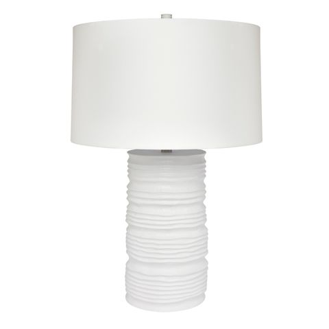 Matisse Table Lamp - White w White shade