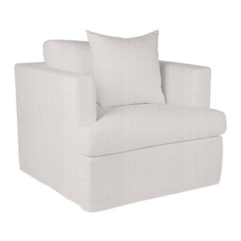 Birkshire Slip Cover Occasional Arm Chair - Off White Linen