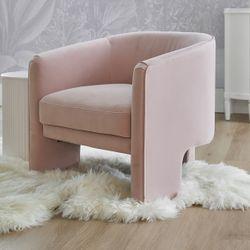 Kylie Occasional Chair - Blush Velvet