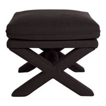 Candace Stool - Black Linen