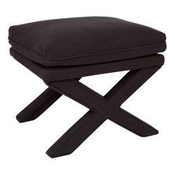 Candace Stool - Black Linen