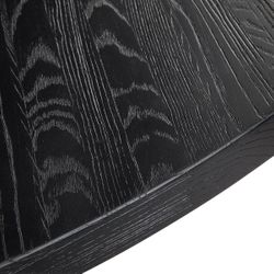 Leeton Round Dining Table - Black
