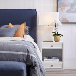 Logan Bedside Table - White
