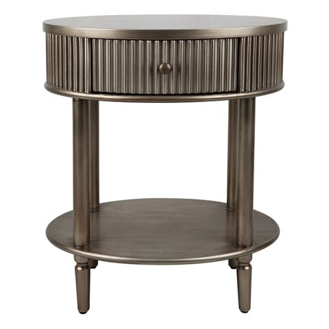Arielle Bedside Table - Small Antique Gold