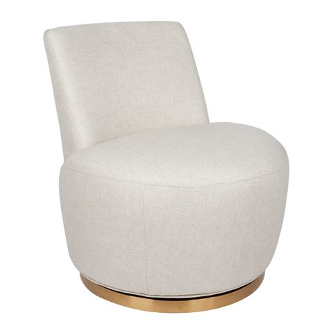 Mariah Swivel Occasional Chair - Natural Linen