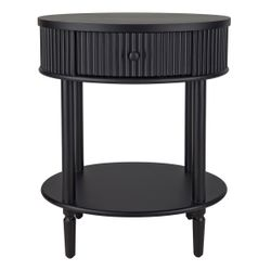 Arielle Bedside Table - Small Black