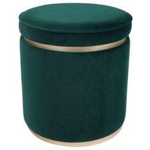 Totti Storage Stool - Forest Green Velvet