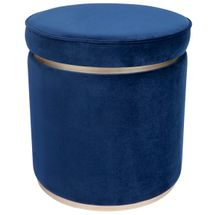 Totti Storage Stool - Navy Velvet