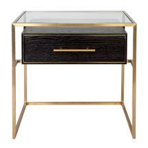 Vogue Bedside Table - Small Gold