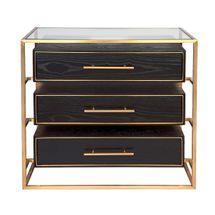 Vogue 3 Drawer Chest - Gold