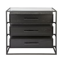 Vogue 3 Drawer Chest - Black