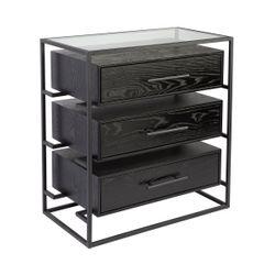 Vogue Bedside Table - Large Black